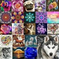 <b>Full</b> Drill Flowers & <b>Animals 5D Diamond</b> DIY Painting Craft Kit ...