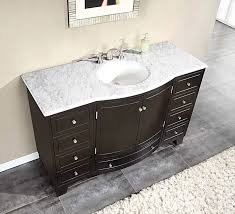 55 inch double sink bathroom vanity: majestic bathroom vanity with carrara marble top ideas silkroad  inch single sink s m l f