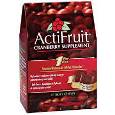 <b>ActiFruit</b>™ <b>Cranberry</b> Supplement <b>Chews</b> - <b>Actifruit</b>™ - Easy Comforts
