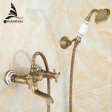 <b>Shower Faucets Antique Brass</b> Bathroom Faucet Rainfall Shower ...