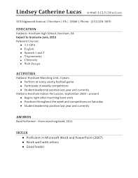 resume examples  resume examples for high school student customer    resume examples for high school student   education and activities
