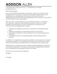best administrative coordinator cover letter examples livecareer edit