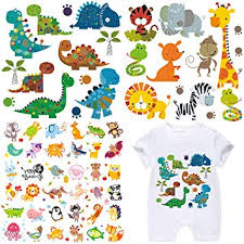Kids <b>Iron on Transfers</b> Patches Set 3 Sheets Assorted Cute <b>Dinosaur</b>