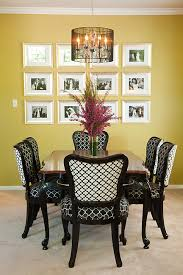 antique dining table and chairs transformed with new trellis patterned upholstery and black lacquer black lacquer dining room