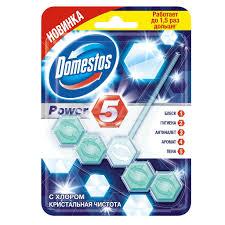 <b>Подвеска для унитаза Domestos</b> Power 5 Кристальная чистота, 55 г