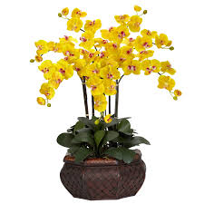 day orchid decor: beautiful artificial flower arrangements for your interior decor idea yellow flower artificial flower arrangements for