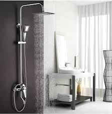 thermostatic brand bathroom: dofaso shower retail luxury high quality brass head rain shower set thermostatic mixer overhead shower set