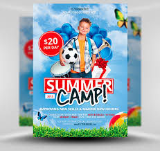 70 best flyer psd templates designmaz summer camp flyer template