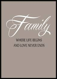 A nice typography poster with a <b>family quote</b>