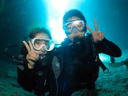 The Blue Cave Diving|Okinawa Diving Shop <b>Pink Mermaid</b>
