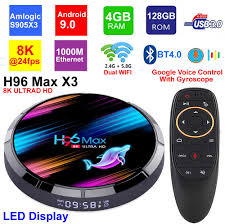 <b>H96 MAX X3</b> 8K Android 9.0 Smart TV BOX Amlogic S905X3 4GB ...