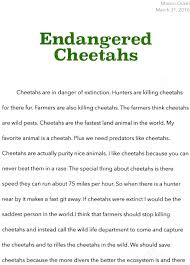 cheetah essay contest why should we save cheetahs cheetah if cheetahs were extinct i would be the vital to the life cycle cheetahs are beautiful spotted creatures that deserve life not death