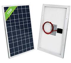 ECO-WORTHY <b>10W Solar</b> Panel 10 Watt <b>12 Volt</b> for Charging 5 ...
