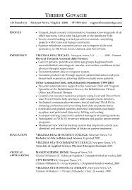 resume examples  admin assistant resume examples resume examples    admin assistant resume examples   physical therapist assistant experience