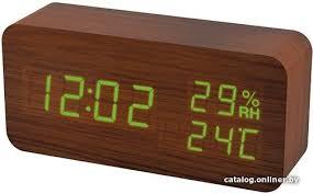 <b>Perfeo Wood PF</b>-<b>S736</b> (коричневый) радиочасы купить в Минске