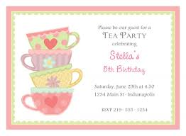 afternoon tea party invitation template template afternoon tea party invitation template