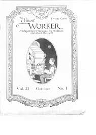 the hand of the silent worker reading an asl imageword periodical cover for the silent worker showing a man sitting working on typesetting machinery