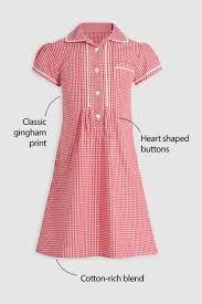 Купить Красное <b>платье в клеточку</b> на пуговицах (3-14 лет) на ...