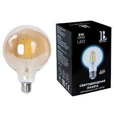 <b>Лампочка</b> L&B E27-8W-G125-NH-fil gold по цене 719 – купить в ...