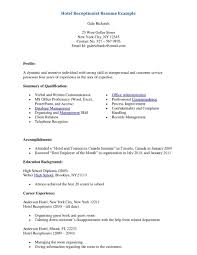 good receptionist resume objective cipanewsletter front office assistant resume objective hotel receptionist example