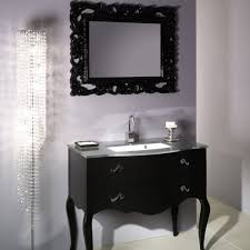 furniture brilliant bathroom vessel sink vanity sets using rectangular undermount basin for glass countertops above black brilliant bathroom vanity mirrors decoration black wall
