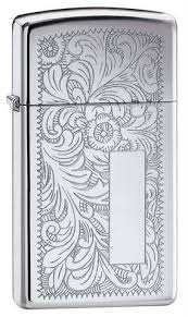 Zippo <b>Slim</b> Venetian High Polish Chrome (<b>1652</b>) | <b>зажигалка</b> узкая ...