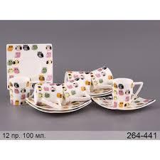 Купить <b>Кофейный набор</b> Совы, 12 пр. <b>Lefard</b>, Китай фарфор <b>100</b> ...