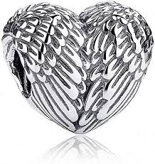 MYBEBOA Charms S925 Sterling Silver Feathers ... - Amazon.com