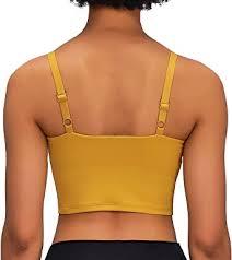 Lavento Women's Longline Sports <b>Bra</b> Yoga Cami Tank <b>Top</b> with ...