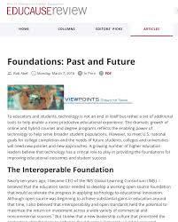 working together on enabling next generation digital learning in a recent educause review viewpoints column entitled foundations past and future i describe how the ngdle follows a prior paper helping to set the stage