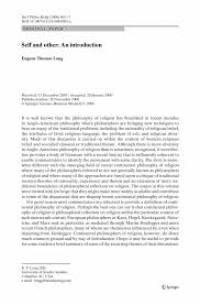 self and other essays in continental philosophy of religion inside