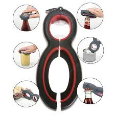 8 Shaped 6 in 1 <b>Multifunction Bottle Opener</b> Stainless Steel Can ...