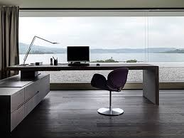 astonishing swivel chair coupled with minimalist modern office desk completed with curved table lamp bedroom home office view