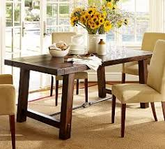 pottery barn style dining table:  benchwright fixed dining table j