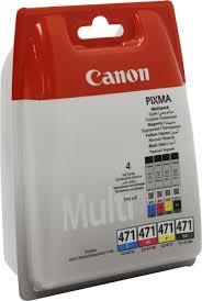 Комплект <b>картриджей Canon CLI</b>-471C/<b>M</b>/<b>Y</b>/BK (0401C004 ...