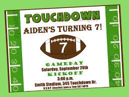 printable football birthday invitations invitations touchdown printable football birthday party invitations