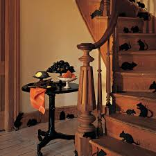 halloween gallery wall decor hallowen walljpg glamour  spooky outdoor decorations for the halloween night godfather inspirations haunted house lots of fake mice on staircase idea plus halloween house decorations outdoor home decor sincere home decor decor