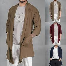 COTTON Men's Spring <b>Autumn</b> Jackets Coat Chinese Kung Fu Tee ...