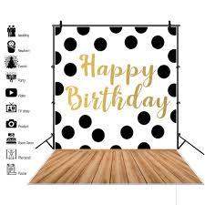 laeacco happy baby 1 birthday party balloon ribbon bulb cake flower portrait photographic background photo backdrop studio