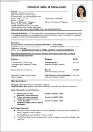 international resume template samples examples format international resume template