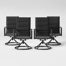 Avalon 4pk Sling <b>Swivel</b> Rocker Patio <b>Dining Chair</b> Black - Project 62