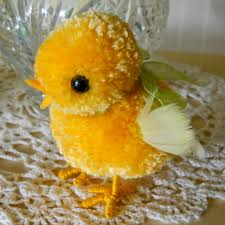 cute pom easter chicks