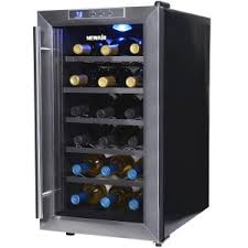 6newair space saver 18 bottle thermoelectric wine cooler awesome portable wine cellar