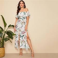 floral print slim maxi shirt