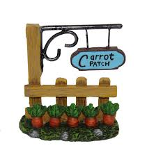 shop easter decor floral and accessories at jo ann fabric craft bloom room easter littles resin fence carrot patch sign