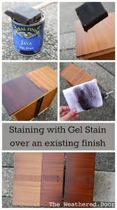 Restaining Kitchen Table 17 Best Images About Wood Gel Staining Diy On Pinterest