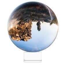 Navaris Crystal <b>Clear</b> Glass Ball - 130mm <b>Transparent K9 Globe</b> for ...
