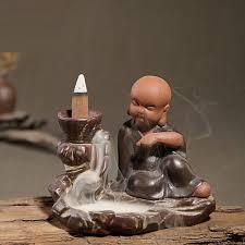 The Little Novice Monk Smoke <b>Backflow Incense Burner</b>/<b>holder</b>#size ...