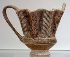 <b>Terracotta</b> miniature one-handled cup <b>Period</b>: Late Minoan IA Date ...