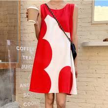 <b>Свободное летнее платье</b> для женщин 2020, красное ...